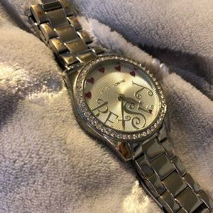 Betsey Johnson silver watch